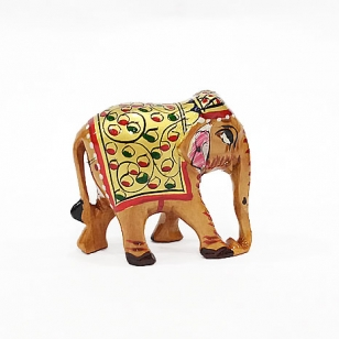 Wooden Painted Elephant 5cm