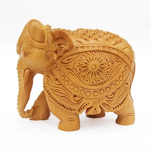 Wooden Etching Elephant
