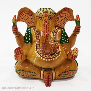 Wooden Painted Appu Ganesh