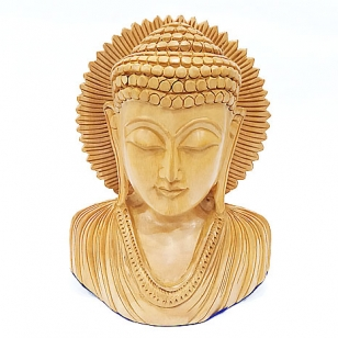 Wooden Carved Kiran Buddha 5 inch