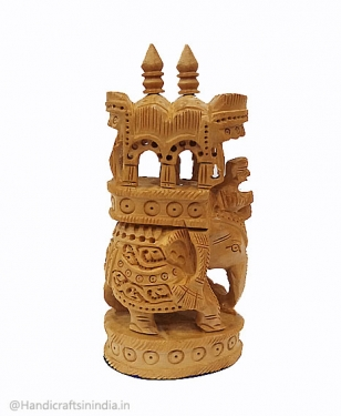 Beautiful Wooden Ambabari Statue