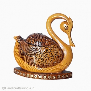 Wooden Duck Figurine