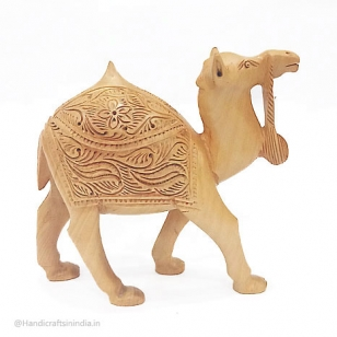 Wooden Carving Camel 5 inch Height