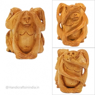 Three Monkeys Showpiece 3 inch