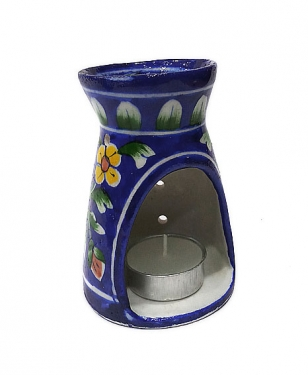 Blue Pottery Oil Burner