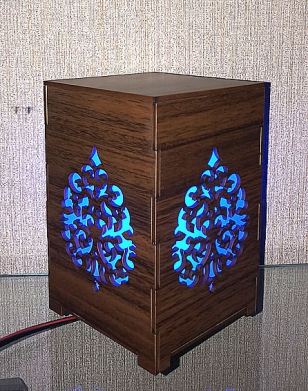 Wooden Engraved Lamp