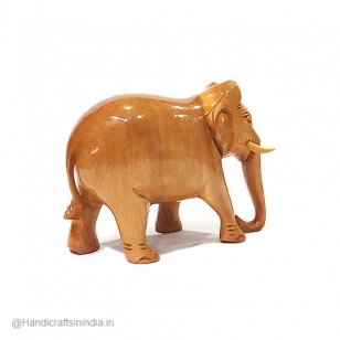 Wooden Plain Elephant 3 Inch