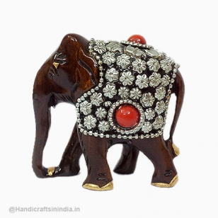 Wooden Beads Decor Elephant
