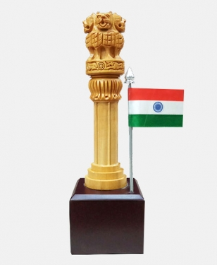 Ashoka pillar on Base 8 Inch Height