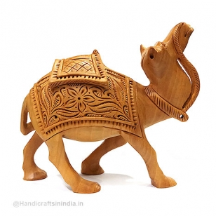 Wood Carving Camel 5 Inch Height