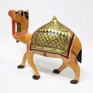 Wooden Painted Camel 4 Inch Height