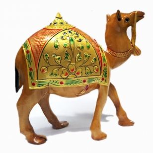 Wooden Painted Desert Camel 5 inch