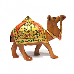 8cm Wooden Painted Desert Camel