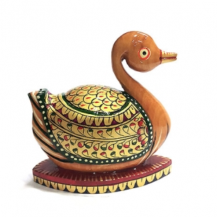 Wooden Hand Painted Duck