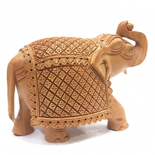 Masterpiece of Wooden Carved Elephant 7x5