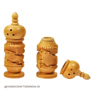 Wooden Salt Pepper Dispenser - 2pc