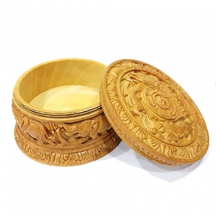 Carving Powder Box 5 Inch Diameter