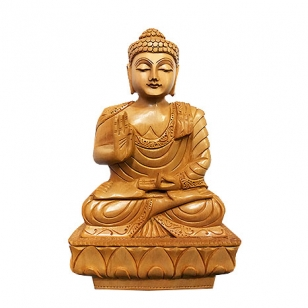 Hand Carved Buddha Statue 15 cm