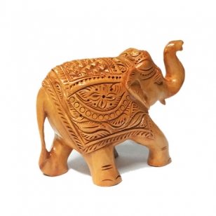 Wood Carving Elephant 10 cm