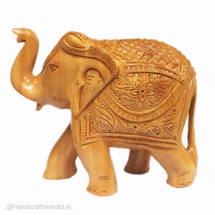 Wood Carving Elephant 15 cm