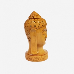 Wooden Carved Buddha Head 4 inch