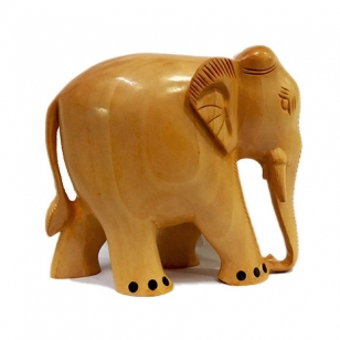 Solid wood Elephant 10cm