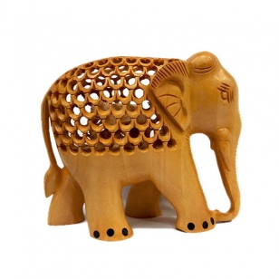 Handmade Jali Elephant (10cm Height)