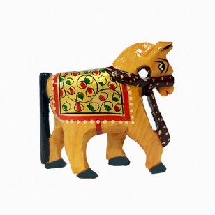 Wooden Painted Horse Small - Pack of 2pc