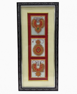 Marble Jewellery Painting Wall Frame 18 x 8
