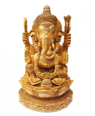 Masterpiece of Wooden Ganesha
