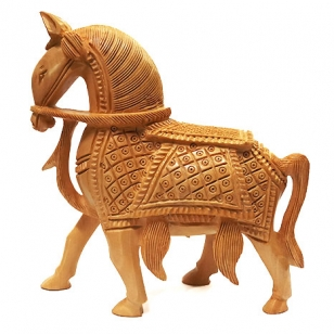 Wood carving horse 6 inch height
