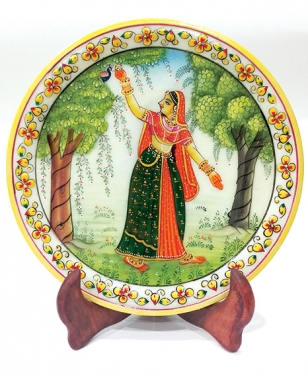 Indian Traditional Painting on Marble