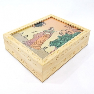 Wooden Carving Box 4x3