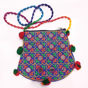 Mirror Work Embroidered Bag
