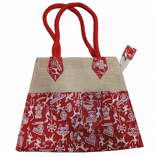 Tribal Art Jute Bag