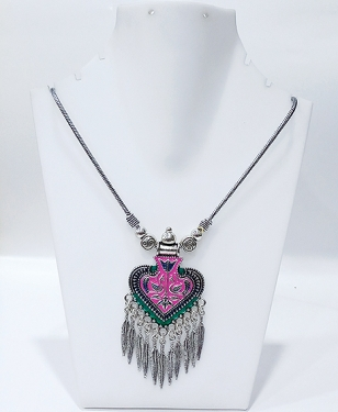 German Siilver Meenakari Necklace