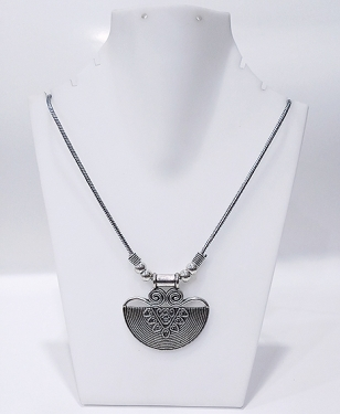 Silver Tribal Necklace Set