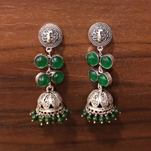 Stone Work Jhumka Earrings