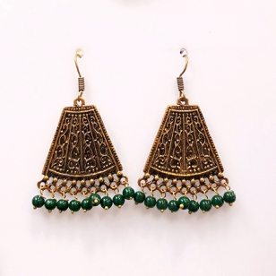 Alloy Golden Earrings