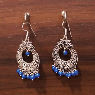 Earrings set Blue beads