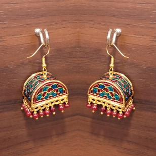 Stylish Meenakari Jhumki