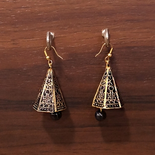 Black Jhumki Earrings