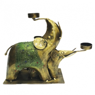 Iron Elephant Tea light Holder