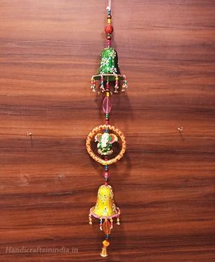Decorative 2 Bell & Ganesh Hanging