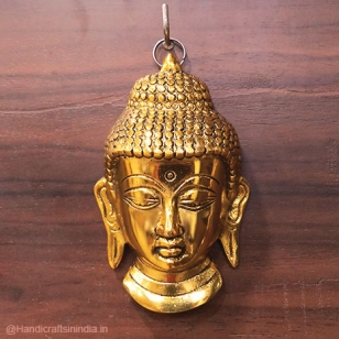 Metal Hanging Buddha (Golden)