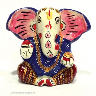 Metal Painted Appu Ganesha