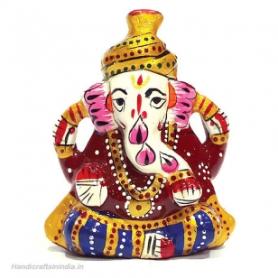 Metal Painted Pagdi Ganesh 2.5 inches