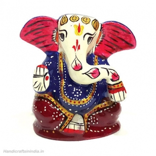 Auspicious Metal Ganesh Painted
