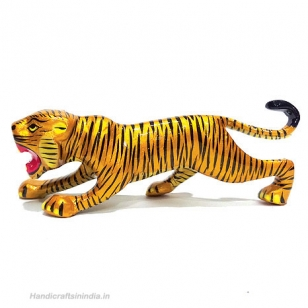 Metal Tiger Painted 6 Inch Length