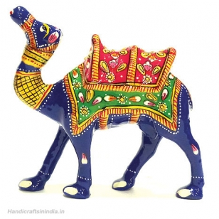 Metal Kathidar Camel Painted 4.5 Inch Height